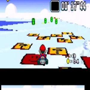 Vanilla Lake 2 item boxes super Mario Kart snes Nintendo