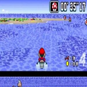 Koopa Beach 2  mushroom item super Mario Kart snes Nintendo