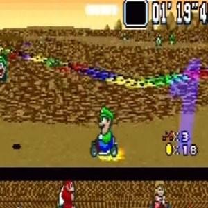 Super Mario Kart Choco Island 2 snes Nintendo