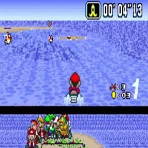Super Mario Kart Koopa Beach 2 snes Nintendo