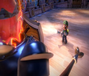 Luigi VS King MacFrights Luigi's Mansion 3 Nintendo Switch