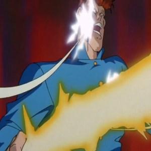 Rinku hits kuwabara with yo-yos Yu Yu Hakusho anime Japan