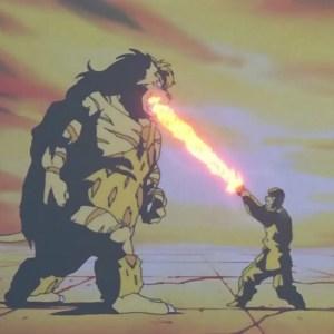 Kuwabara spirit sword VS byakko Yu Yu Hakusho anime Japan