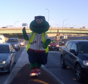 Wally the green monster Boston Red Sox