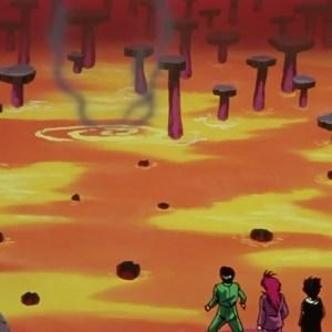 Byakko lava pit maze castle Yu Yu Hakusho anime Japan