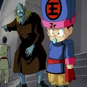 Koenma arrives at the dark tournament with ogre Yu Yu Hakusho anime Japan