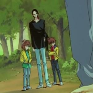 Kuroko Sanada and kids meet Yusuke Urameshi Yu Yu Hakusho anime Japan