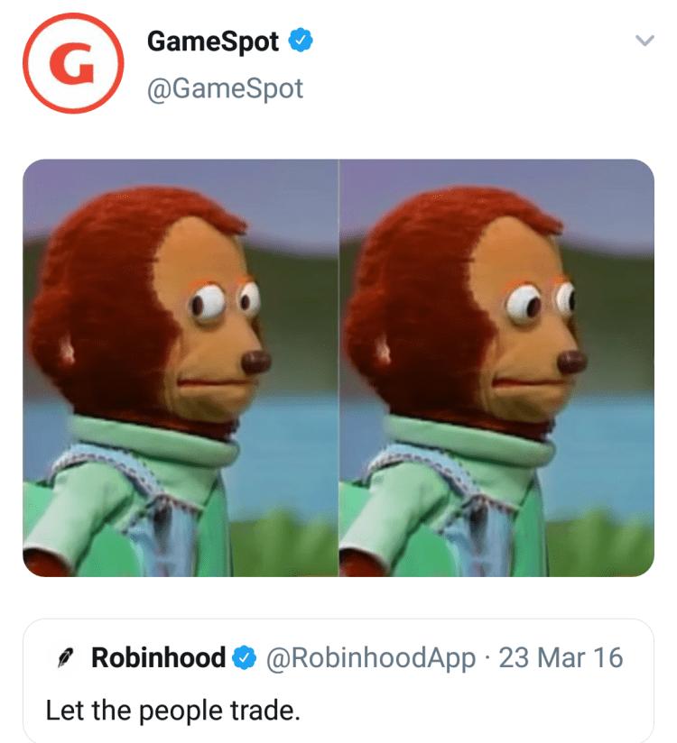 Memes GameStop Robin Hood