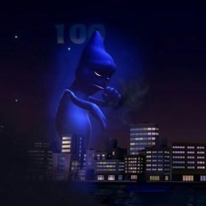 Blue ghost under Godzilla costume luigi's Mansion 3 Nintendo Switch