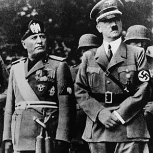 World war two history Italy and Germany Benito Mussolini and Adolf Hitler
