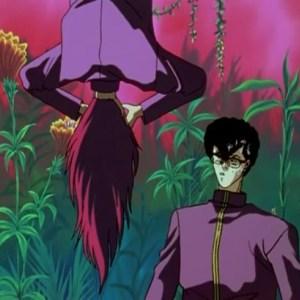 Yu Kaito laughs at kurama Yu Yu Hakusho anime Japan