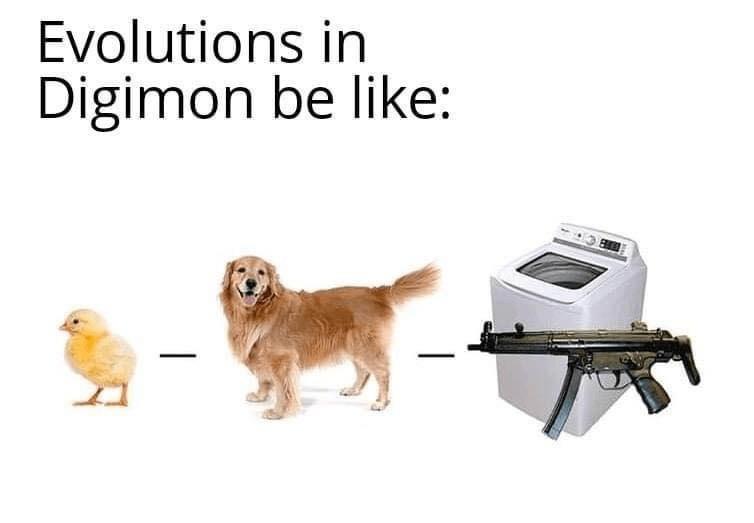 Memes Digimon evolutions