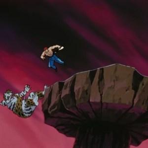 Byakko falls into lava Yu Yu Hakusho anime Japan
