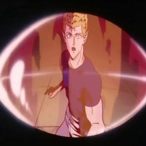 Jigan eye looks at zeru dark tournament Yu Yu Hakusho anime Japan