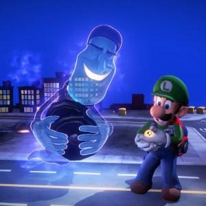 Director Morty gives luigi elevator button luigi's Mansion 3 Nintendo Switch