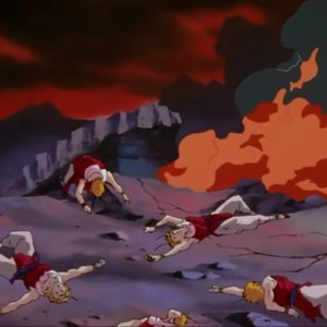 Suzaku defeated by Yu Yu Hakusho anime Japan