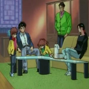 Yusuke Urameshi meets Kuroko Sanada Yu Yu Hakusho anime Japan