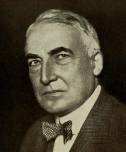 US president warren G Harding in suit and bowtie