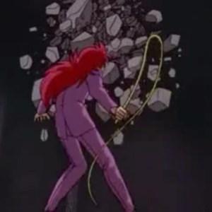 Kurama rose whip vs genbu Yu Yu Hakusho anime Japan