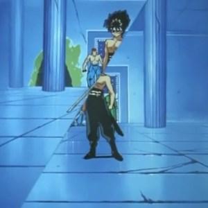 Hiei sword slice seiryu Yu Yu Hakusho anime Japan