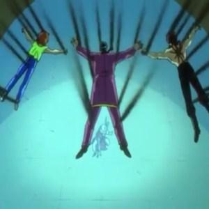 Genkai masked fighter uses spirit wave Dr ichigaki team Yu Yu Hakusho anime Japan