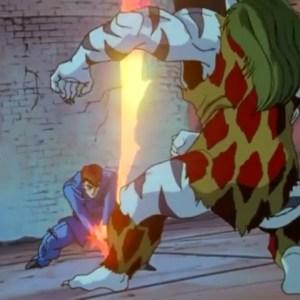 Byakko vs kuwabara spirit sword Yu Yu Hakusho anime Japan