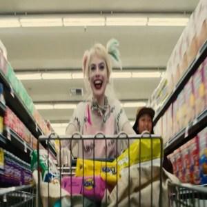 Birds of prey Harley Quinn grocery shopping Margot Robbie