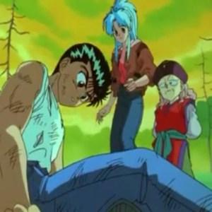 Genkai declares Yusuke Urameshi as her apprentice Yu Yu Hakusho anime Japan