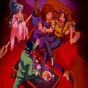 Yusuke screams at his mom Atsuko Urameshi Yu Yu Hakusho anime Japan
