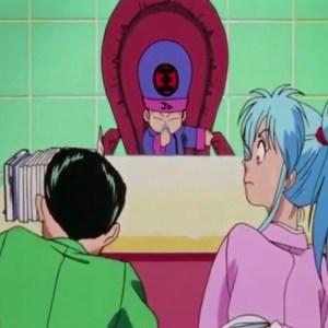 Botan introduces Koenma to Yusuke Urameshi anime Japan
