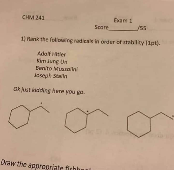 Memes Funny chemistry questions