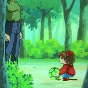 Goki steals soul little girl Orb of Baast Yu Yu Hakusho anime Japan
