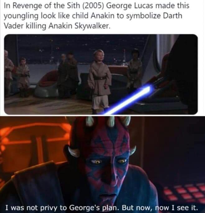Memes Anakin Skywalker versus young Jedi