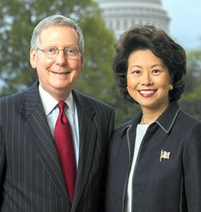 Senate minority leader mitch McConnell and Elaine chao