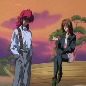Kurama and shizuru Kuwabara three kings saga Yu Yu Hakusho anime Japan