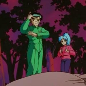 Yusuke Urameshi and Botan vs Goki Yu Yu Hakusho anime Japan