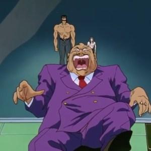 Younger toguro kills Gonzo Tarukane Yu Yu Hakusho anime Japan