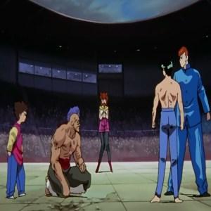 Yusuke Urameshi spares chu from death Yu yu hakusho anime Japan