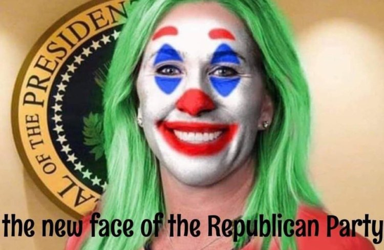 Memes Marjorie Taylor green the new face of the republican party clown