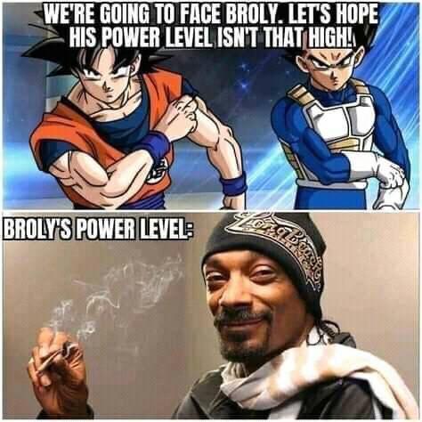 Memes Dragon ball Z Goku and Vegeta versus Broly
