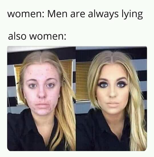 Makeup meme women