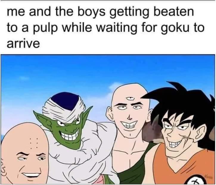 Memes Dragon ball Z saiyan saga