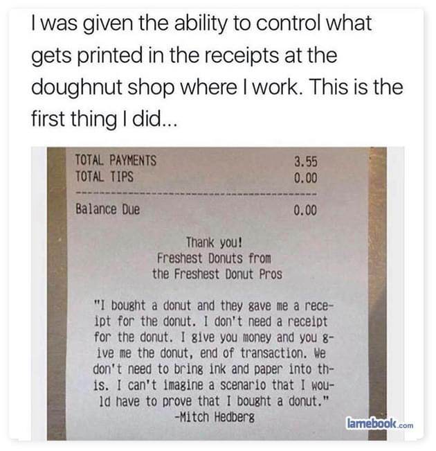 Memes Mitch Hedberg donut shop