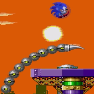 Submarine Eggman II Giant tail Sonic the Hedgehog 2 Sega genesis Sega mega drive