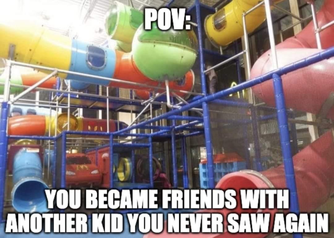 Memes Playground at fast food restaurant
