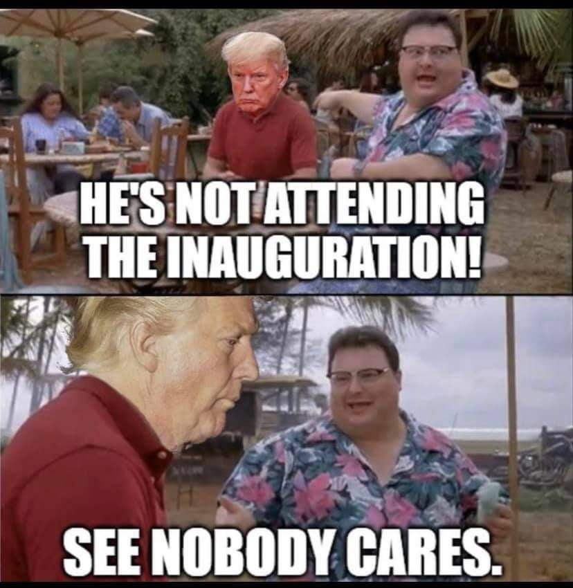 Memes Donald Trump not attending the inauguration