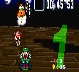 Luigi and donkey Kong Jr ghost Valley 2 snes Nintendo