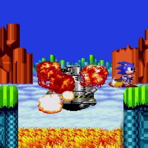 Submarine Eggman defeated Sonic the Hedgehog 2 Sega genesis Sega mega drive Sonic and tails