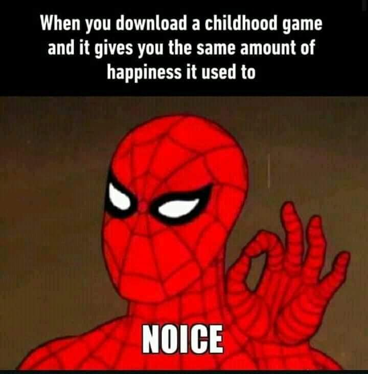 Memes Nostalgia from childhood video games