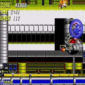 Water Eggman boss battle Sonic the Hedgehog 2 Sega genesis Sega mega drive